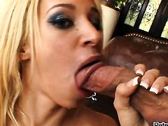Jada Stevens enjoys deep cock sucking in steamy oral action with lucky guy