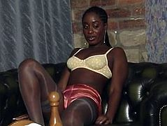 White British Babe Kerry & Two African British Goddesses, Naomi and Khadean