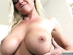 Blonde Devon Lee is just another fuck toy of horny dude that bangs her hard