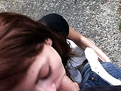 Aimee Ryan gives it to hot dude and makes him ejaculate