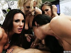 Keiran Lee is horny and cant wait no more to fuck ultra hot Julia Ann  Jenna Presley  Jessica Jaymes  Kirsten Prices mouth