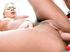 Blonde Riley Evans with big butt just loves to fuck and cant say No to her hard dicked bang buddy