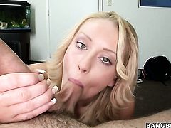 Blonde Ashden Rivers with tiny breasts and smooth cunt gets covered in jizz