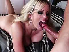 Stormy Daniels is dangerously horny in this cumshot scene