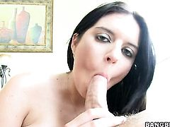 Brunette Kodi Gamble cant stop fucking rubbing guys ram rod