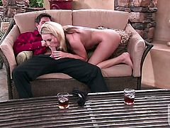 Kiara Diane keeps her mouth wide open while getting cummed on