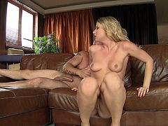 He reams her ass, makes her gape then cums in her mouth