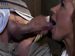 Kirsten Price kills time blowing guys stiff ram rod