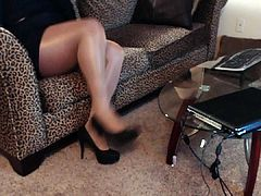 CD in pantyhose