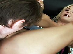 Blonde woman Flower Tucci masturbates with passion and desire