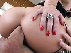 Casey Cumz with big booty makes dudes boner harder before getting her ass penetrated
