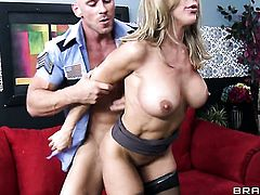 Hot bodied doll Brandi Love with giant tits makes her sex dreams a reality with her horny bang buddy Johnny Sins