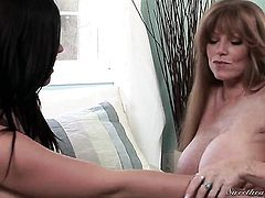 Amazingly hot chick Darla Crane is never enough and stimulates Andy San Dimass over and over again