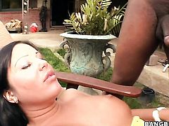 Brunette Angelica Heart has fierce appetite for interracial fucking