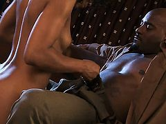 Misty Stone sucks like theres no tomorrow in steamy oral action with hard cocked dude