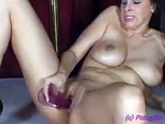 Gianna Michaels strips and masturbates