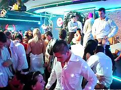 Wedding after party at the club turns into a wild orgy
