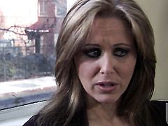 Julia Ann gets her nice face covered in love cream on camera for your viewing pleasure