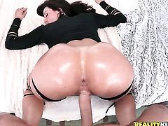 Johnny Sins uses his rock hard pole to bring blowjob addict Brunette Kendra Lust to the height of pleasure