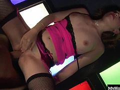 Watch her do what she does best in this raunchy stripper fuck scene from Ben Dovers Polecats Vol 1, in which slutty girls like this 18 year old whore get nasty right there at the pole
