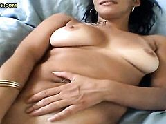 Brunette chachita Naya enjoys another solo sex session