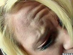 Blonde Alexia Sky gets her pussy stretched by stiff boner of hot man in interracial action
