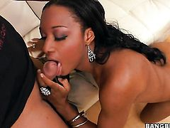Brunette Imani Rose does her best to make man explode using nothing but her sexy warm hands