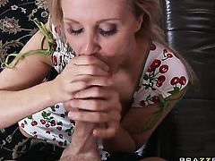 Julia Ann with huge jugs wants Johnny Sinss man meat to fuck her mouth