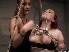 Mature Kyra with massive jugs and Katy Parker get satisfaction in steamy lesbian action