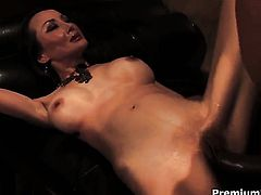 Exotic Ange Venus satisfies guys sexual needs and then gets covered in man cream
