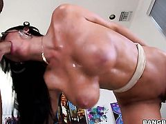 Brunette Anissa Kate with bubbly booty had her soft hands fucked a hundred times but needs some more