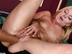 Salome is on the edge of nirvana after lesbian sex with Barbie White