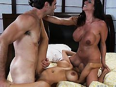 With massive breasts is just in need of sexual pleasure and gets some in sex action with Charles Dera