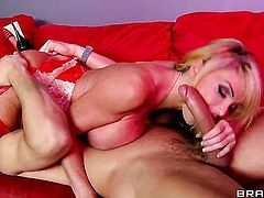 Taylor Wane with juicy knockers is too hot to stop fucking with hot guy Danny Mountain