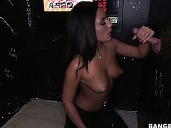 With round bottom and her man are so fucking horny in interracial porn action