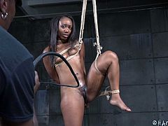 Chanell is a very sexual woman, but is far fiercer in her independence than her sexual energy. Today is the day that she gives up control and starts taking orders, rather than giving them. She is tied with ropes by her executor and is instructed to hold several positions, before getting some stimulation.