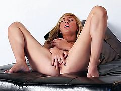 Tattoos Brett Rossi with big breasts and clean muff is totally naked and plays with her twat non-stop