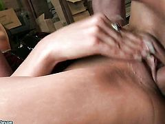 Brunette Addison Dark has some time to get some pleasure with dudes man meat in her mouth