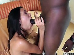 Brunette Lyla Storm learns more about interracial hardcore sex from hard cocked guy