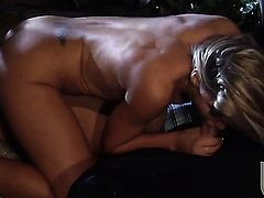 Charisma Cappelli satisfies guys sexual desires and then gets cum glazed