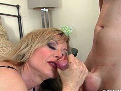Horny Mommy Gives Nice Handjob