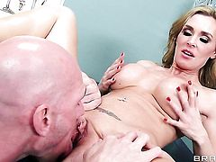 Johnny Sins attacks magically sexy Tanya TateS mouth with his love torpedo