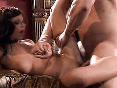 Halie James takes dudes sturdy love stick deep in her mouth