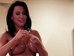 Lezley Zen is on the edge of nirvana with sticky nectar on her face