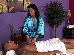 Asian dude goes for a massage ends up fucking the slutty masseuse