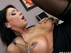 Xander Corvus explores the depth of perfect bodied Jessica Jaymess wet honeypot with his rod
