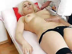 Amazing blonde wife gets her sweet asshole tested