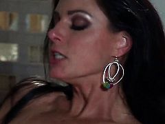 Breathtakingly beautiful pornstar India Summer satisfies guys sexual desires and then gets cum glazed