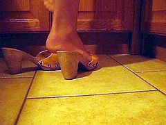 kitchen clog and feet