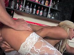 Hot young blonde Hungarian bombshell Bibi Noel is an aspiring singer and is married, but is working as a stripper, so she does not have to take money from her husband to pursue her career